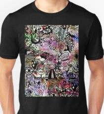 ironic chaos -  (black and white with color) Unisex T-Shirt
