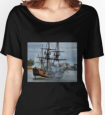 The Endeavour - Newcastle Harbour NSW Australia Relaxed Fit T-Shirt