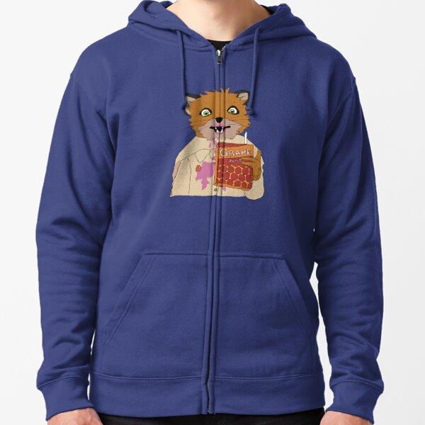 Juice Fox (Ash) Zipped Hoodie