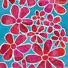 Pink Funky Flowers by ShellsintheBush