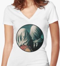 The Lovers Rene Magritte Women's Fitted V-Neck T-Shirt