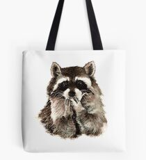 Cute Raccoon Blowing Kisses Tote Bag