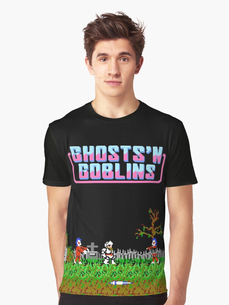 Ghosts 'n Goblins (NES Title Screen) Graphic T-Shirt Front