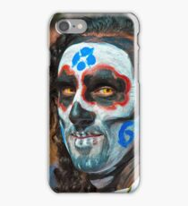 Painted face, day of the dead iPhone Case/Skin