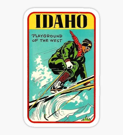 Idaho Playground of the West Vintage Travel Decal Sticker