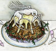 The Little Christmas Pudding Angel by Elle J Wilson