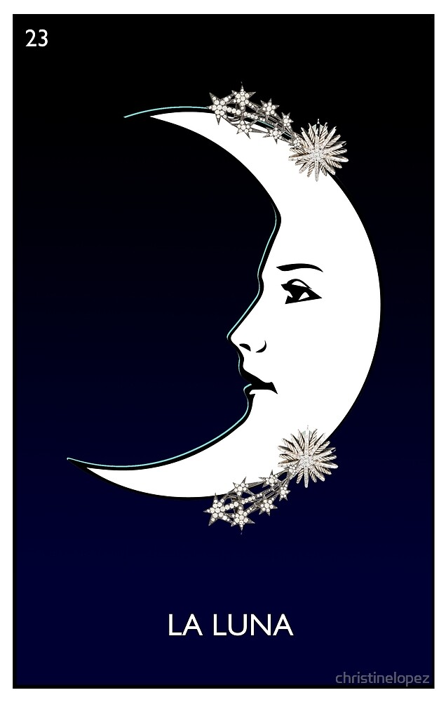La Luna Loteria card by christinelopez