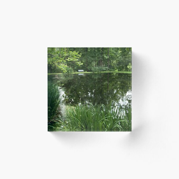 At the pond from A Gardener's Notebook Acrylic Block