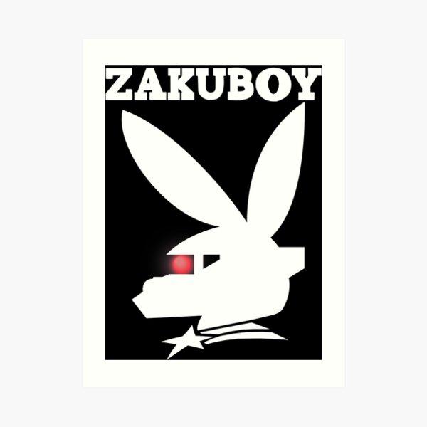 ZAKUBOY - White Art Print