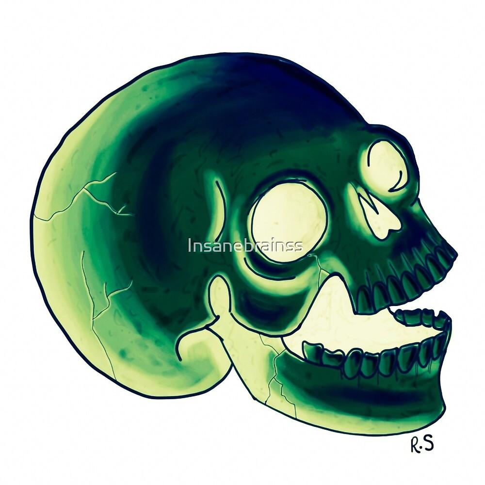 Glowing Skull  by Insanebrainss