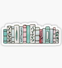 Pegatina Libros en colores pastel