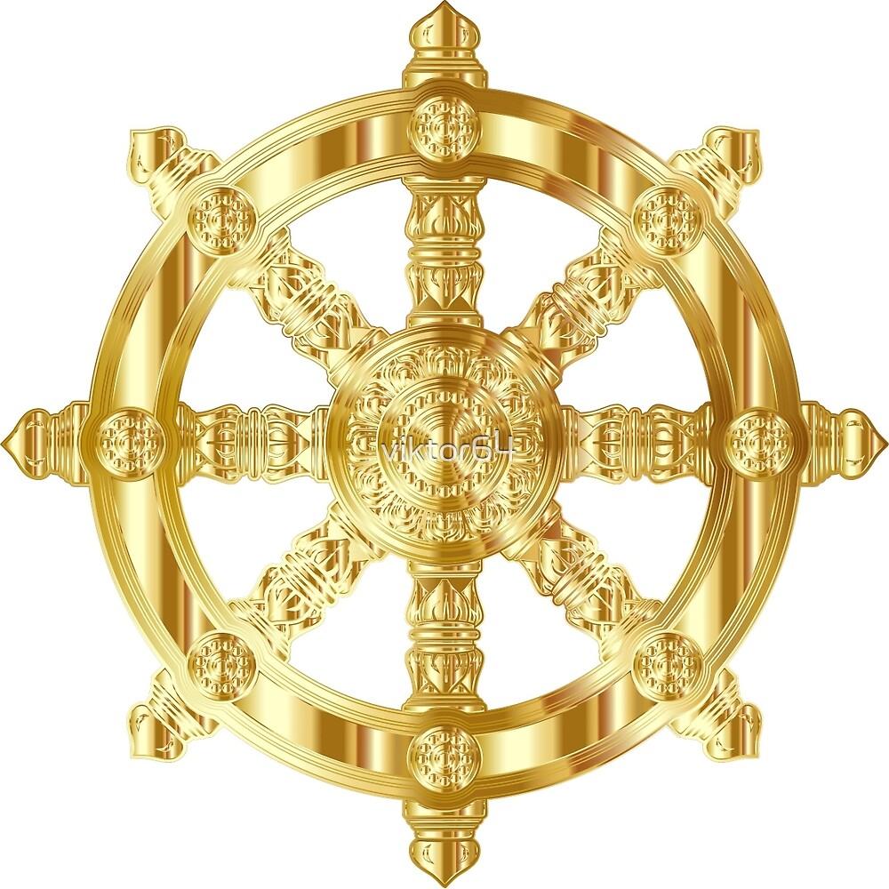Golden Dharma Wheel by viktor64