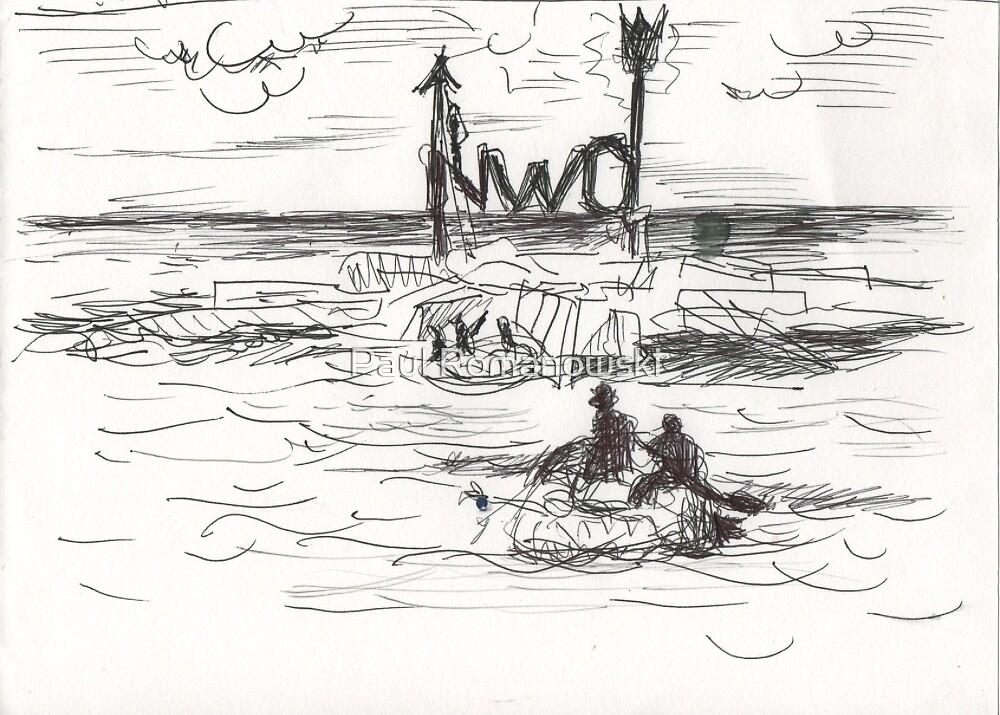 NWO(CONCEPT INK PEN SKETCH)(C2016) by Paul Romanowski