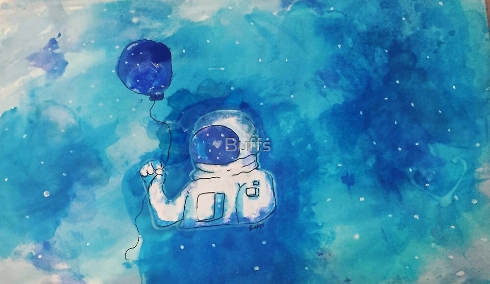 Astronaut with a balloon  by Buffs