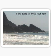 ~i am trying to break your heart~ Sticker