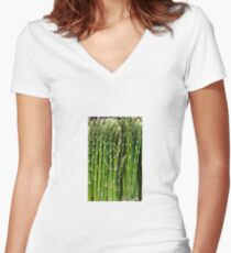 Asparagus Women's Fitted V-Neck T-Shirt