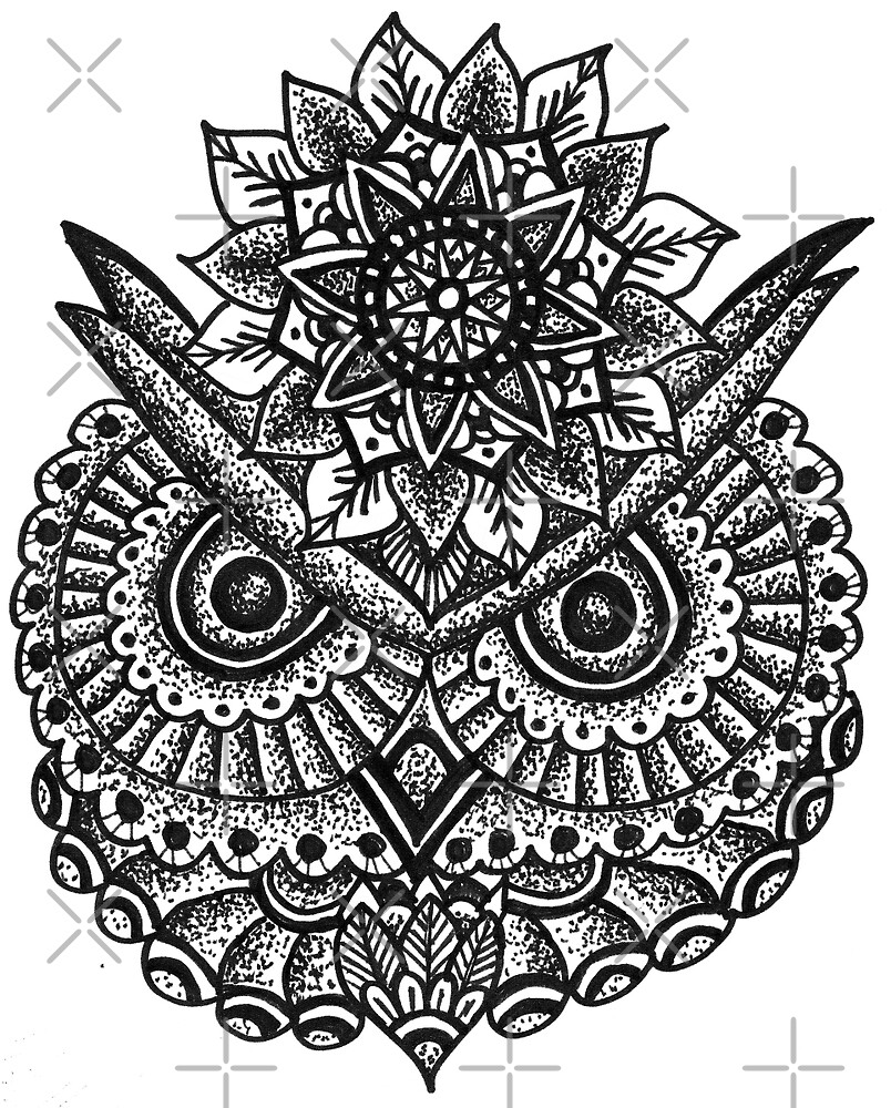Quot Owl Mandala Quot By Tiffanih Redbubble