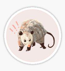 not playing possum Sticker