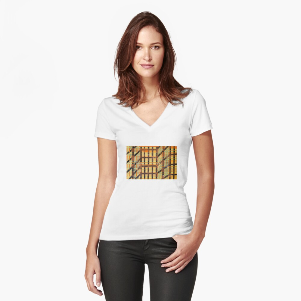 Where the Streets Have No Names Women's Fitted V-Neck T-Shirt Front
