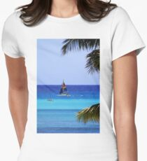 Waikiki Sailboat Women's Fitted T-Shirt