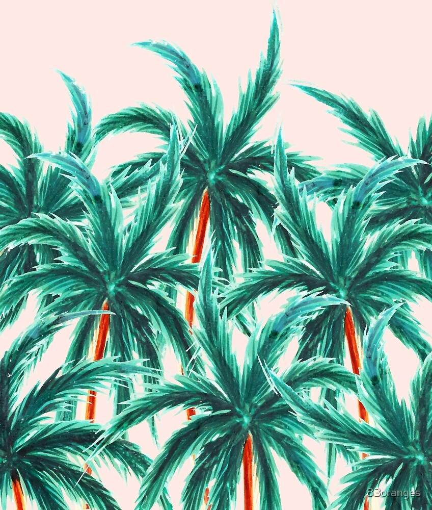 Coconut Trees #redbubble #decor  by 83oranges