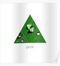 Graphic Art PURE | Raindrops Poster