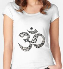 Om Sign Tailliertes Rundhals-Shirt