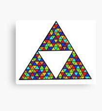 Rainbow Triforce Canvas Print