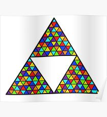 Rainbow Triforce Poster
