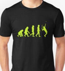 Tennis Player Human Evolution  Unisex T-Shirt