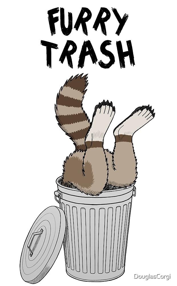 Furry Trash - Brown Raccoon by DouglasCorgi