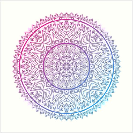Rainbow mandala by ViSnezh
