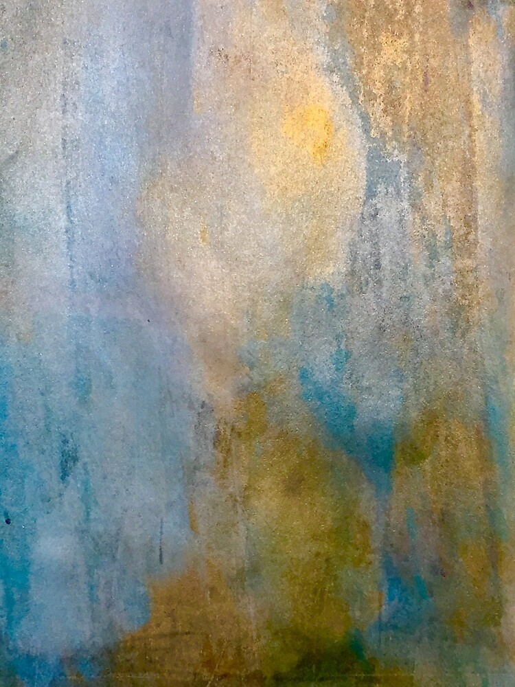 Urban Metal Turquoise and Gold by zeelv