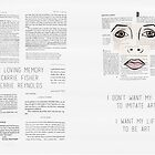 « I Want My Life to be Art - Carrie Fisher Memorial Journal » par carriediaries