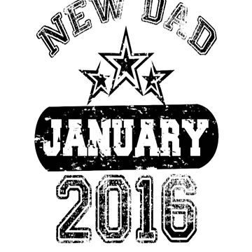Dad To Be january 2016 T-Shirt by DianeBitting