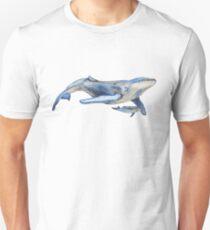 Watercolour Whale Unisex T-Shirt