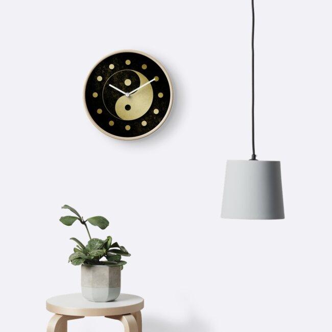 Gold Grunge Yin Yang Symbol by thepixelgarden