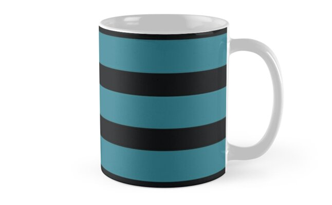 Teal and Black Stripe by kirei