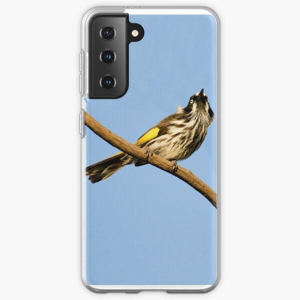 New Holland Honey-Eater - Spring Sky Coque souple Samsung Galaxy