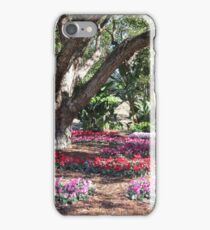 Cleverly Arranged Flower Beds! Colin Campbells, mem. Gdn. Brisbane. iPhone Case/Skin