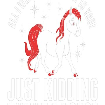 All I Want For January Horse T-Shirt by VivianDunn