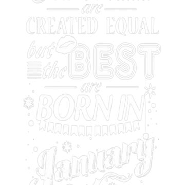 Best Woman Born In January T-Shirt by VivianDunn