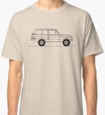 Range Rover Classic 2-door line art Classic T-Shirt