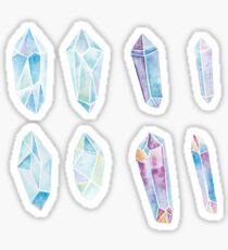 Watercolor Gemstones, Watercolor Crystals, Gemstones Stickers Set Sticker