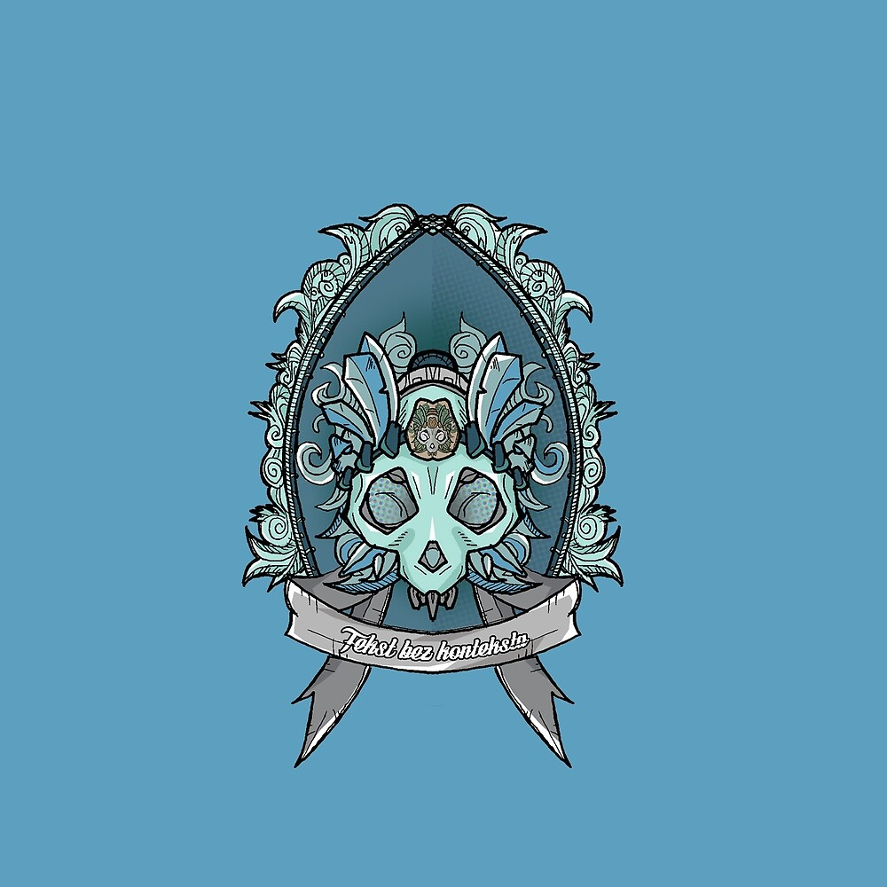 Blue skull emblem crest by IMTEKTEK