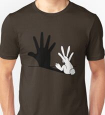 Rabbit Hand Shadow Unisex T-Shirt