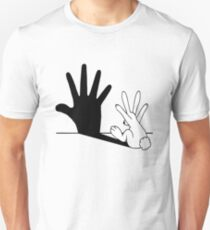 Rabbit Hand Shadow Unisex T-Shirt