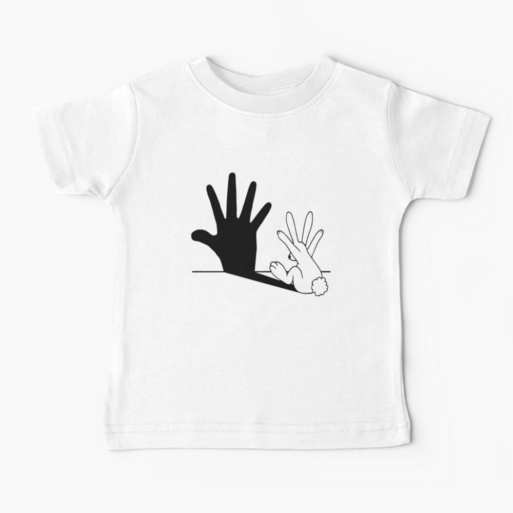 Rabbit Hand Shadow Baby T-Shirt
