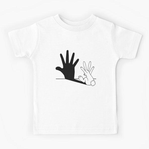 Rabbit Hand Shadow Kids T-Shirt
