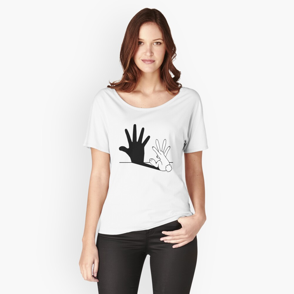 Rabbit Hand Shadow Relaxed Fit T-Shirt